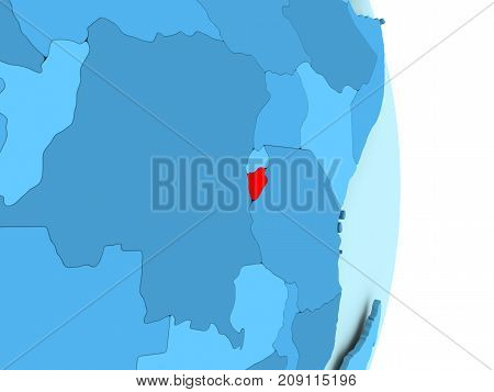 Map Of Burundi In Red