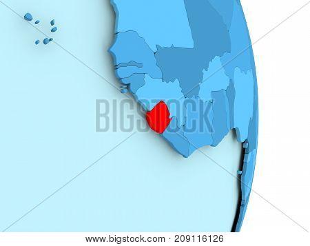 Map Of Sierra Leone In Red
