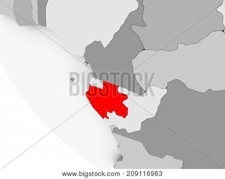 Map Of Gabon In Red