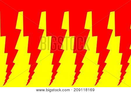 Lightning bolt - abstract geometric vector pattern - red and yellow , Thunder abstract background