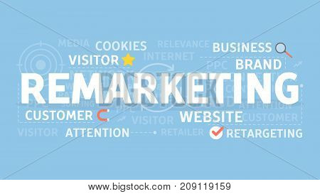 Remarketing concept illustration. Idea of visitors, retargeting and attention.