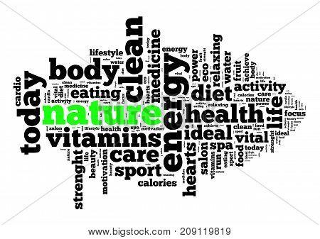 Nature Word Cloud Concept