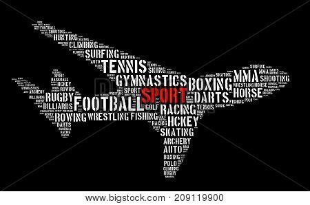 Sport Word Cloud Concept