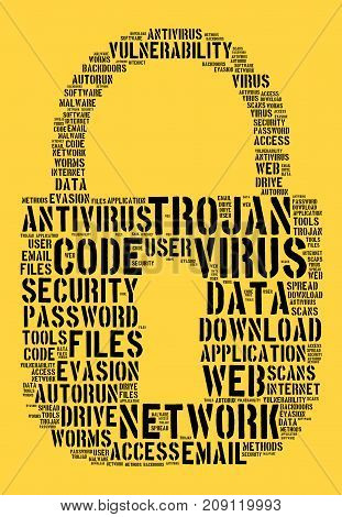Virus Word Cloud Concept