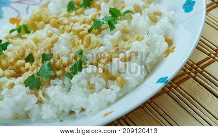 Lebanese Rice with VermicelliMediterranean Dish , close up