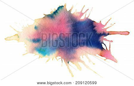 Watercolor spot isolated on a white background.