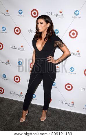 LOS ANGELES - OCT 12:  Eva Longoria at the Eva Longoria Foundation Annual Dinner at the Four Seasons Hotel on October 12, 2017 in Beverly Hills, CA