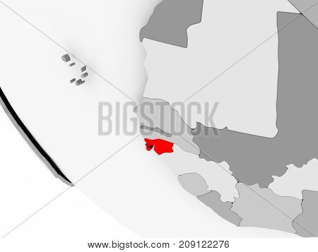 Map Of Guinea-bissau In Red