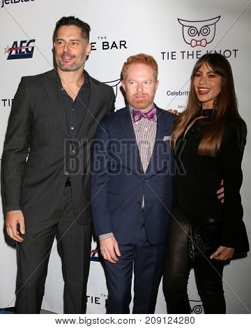LOS ANGELES - OCT 12:  Joe Manganiello, Jesse Tyler Ferguson, Sofia Vergara at the Tie The Knot Celebrates 5-Year Anniversary at the NeueHouse on October 12, 2017 in Los Angeles, CA