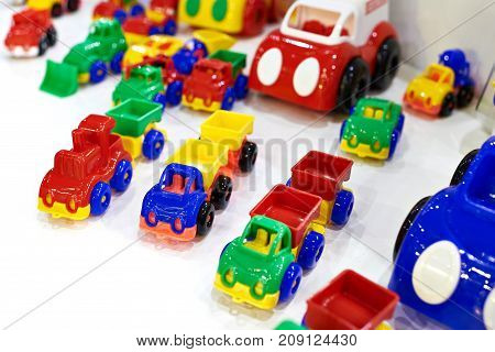 The colorful toy children's a plastic cars