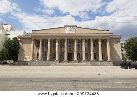 Evpatoria, Republic of Crimea, Russia - July 22, 2017: Building of Evpatoria City Court on Lenin Avenue in Evpatoria