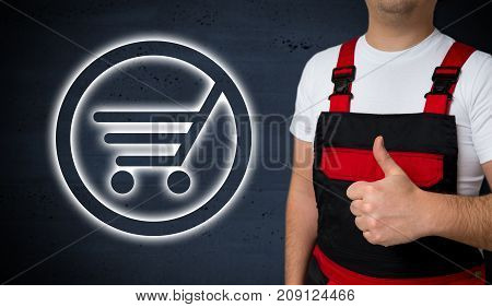 Shopping Cart Icon Is Shown By Craftsman Concept