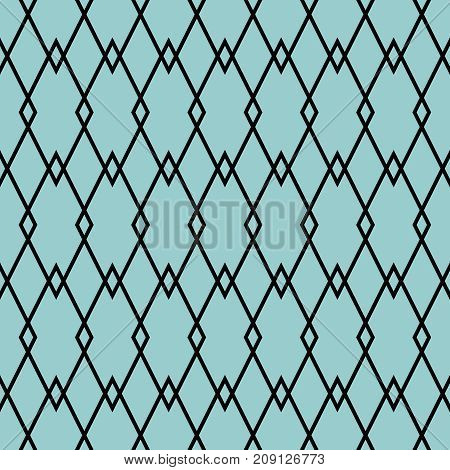 Tile black and mint green background or vector pattern