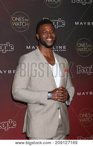 LOS ANGELES - OCT 4:  Winston Duke_ at the People's Ones To Watch Party at the NeueHouse Hollywood on October 4, 2017 in Los Angeles, CA