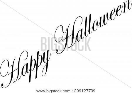 Happy Halloween Text Sign