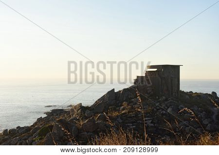 Old Military Battery In Cabo Silleiro, Pontevedra Province, Galicia, Spain