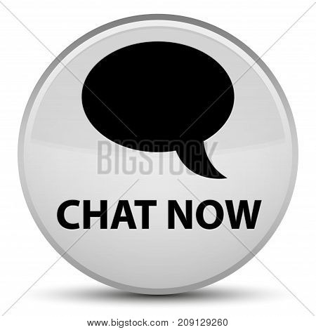 Chat Now Special White Round Button