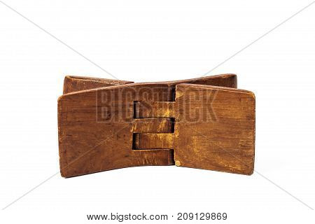 Ancient Wooden Pillow Made From Old Wood