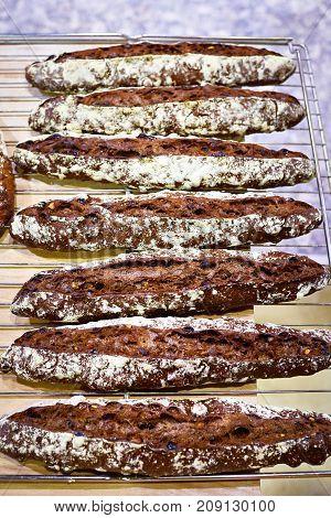 Fresh Baguette Rye Bread