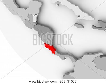Map Of Costa Rica In Red