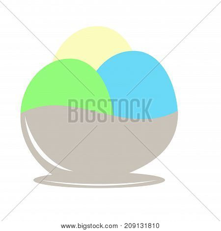 Isolated ice cream icon on a white background, Vector illustration