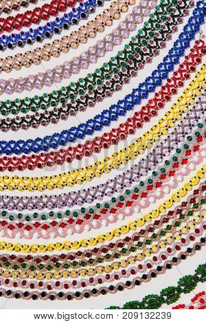 Romanian Traditional Beaded Necklaces