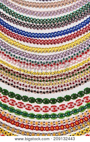 Pattern Of Traditional Beaded Necklaces