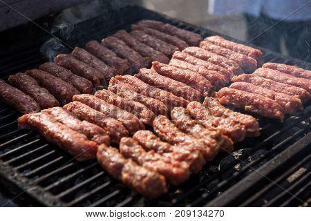 Raw Meat, Mici, Mititei, Cevapcici, Pork Meat Rolls