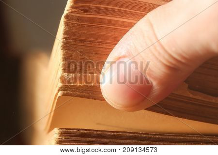 Pages book, macro . Photos in the studio