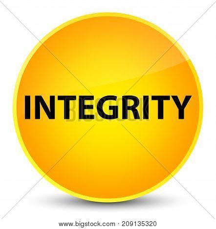 Integrity Elegant Yellow Round Button
