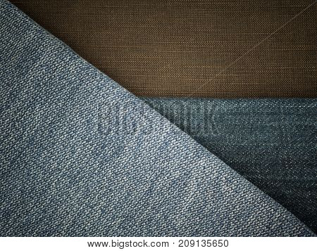 Jeans texture background ,Vintage Denim old jeans
