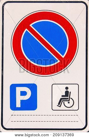 Do not stop sign disabled parking only