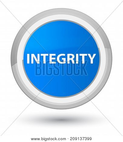 Integrity Prime Cyan Blue Round Button