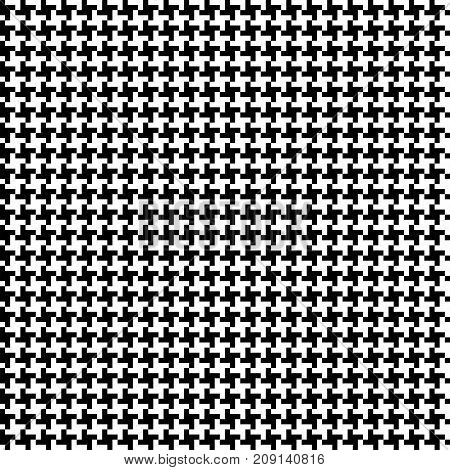 Vector seamless checkered black and white ornament pied-de-poule