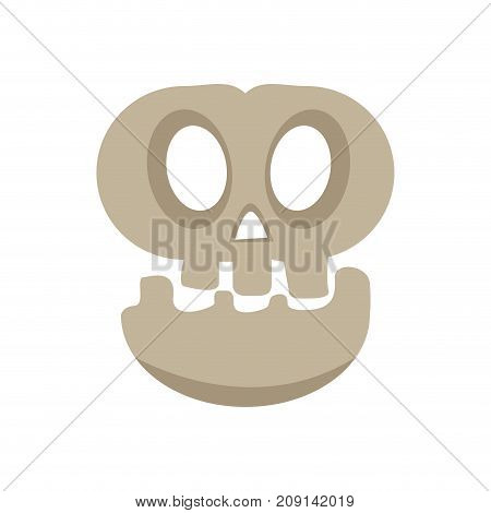 Isolated halloween skull on a white background, Vector illustration