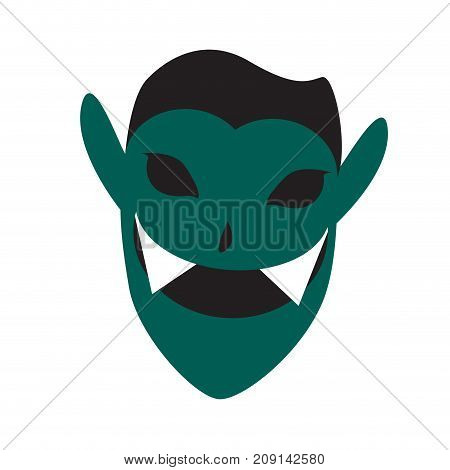 Isolated vampire mask on a white background, Vector illustration