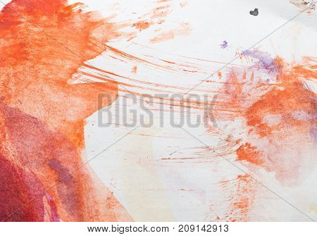 ink stains on white paper . Photo of abstract background