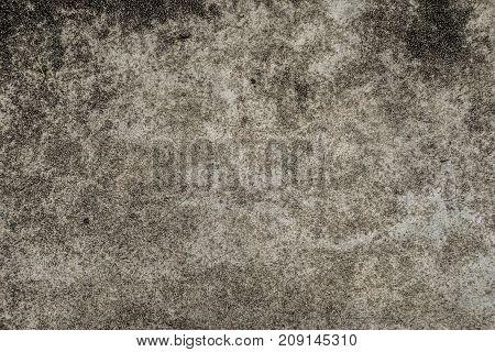 Dirty black dirt fungus on concrete floor texture background