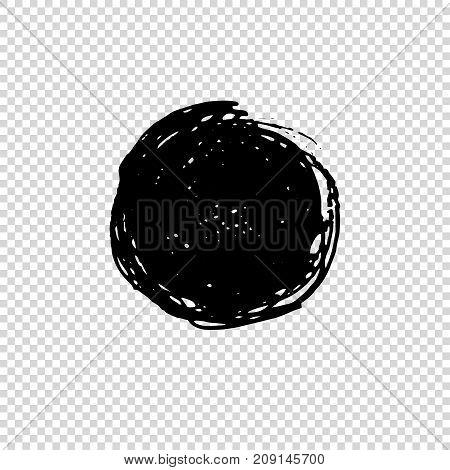 Grunge Round Brush. Dirty Artistic Design Element. Vector illustration.