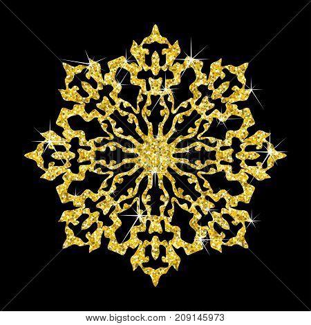 Gold Snowflakes Icon