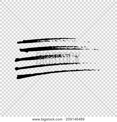 Grunge Brushes. Dirty Artistic Design Elements. Vector illustration.