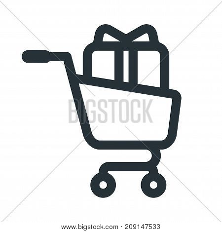 Shopping Cart Gift Icon