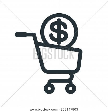 Shopping Cart Money Icon