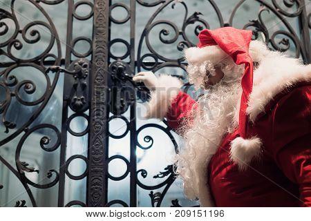Sad Santa Claus Is Preparing For Christmas.
