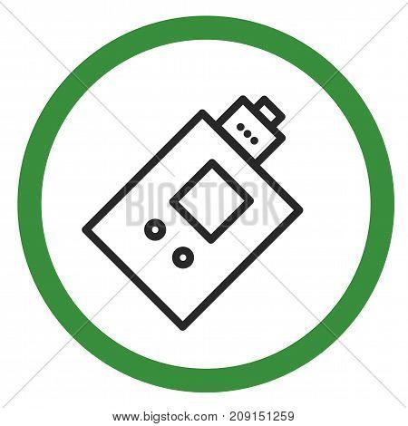 Allow sign electronic cigarette smoking vaping emblem