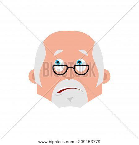 Doctor Bewildered Emotion Avatar. Physician At A Loss Emoji. Vector Illustration