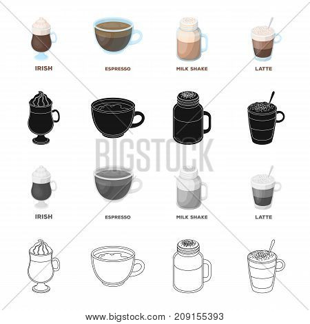 Tableware, cup, glass, and other  icon in cartoon style. potables, drinkables icons in set collection