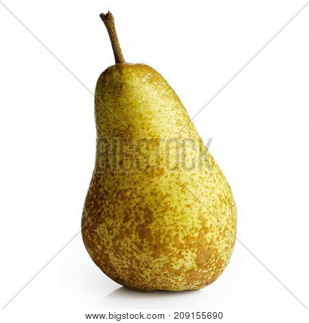 Single abate fetel pear isolated on white. poster