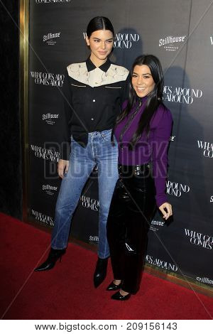 LOS ANGELES - OCT 11:  Kendall Jenner, Kourtney Kardashian at the What Goes Around Comes Around One Year Party at the What Goes Around Comes Around Store on October 11, 2017 in Beverly Hills, CA