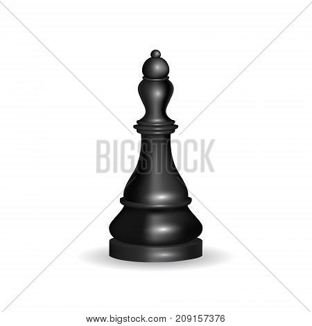 Realistic 3d Chess Black Queen Gaming Figure for Strategic Business Game or Hobby Leisure. Vector illustration of Dark Leader Shape Chessboard